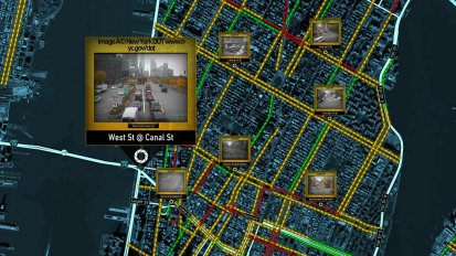 Vizzion traffic cameras display based on location and zoom level